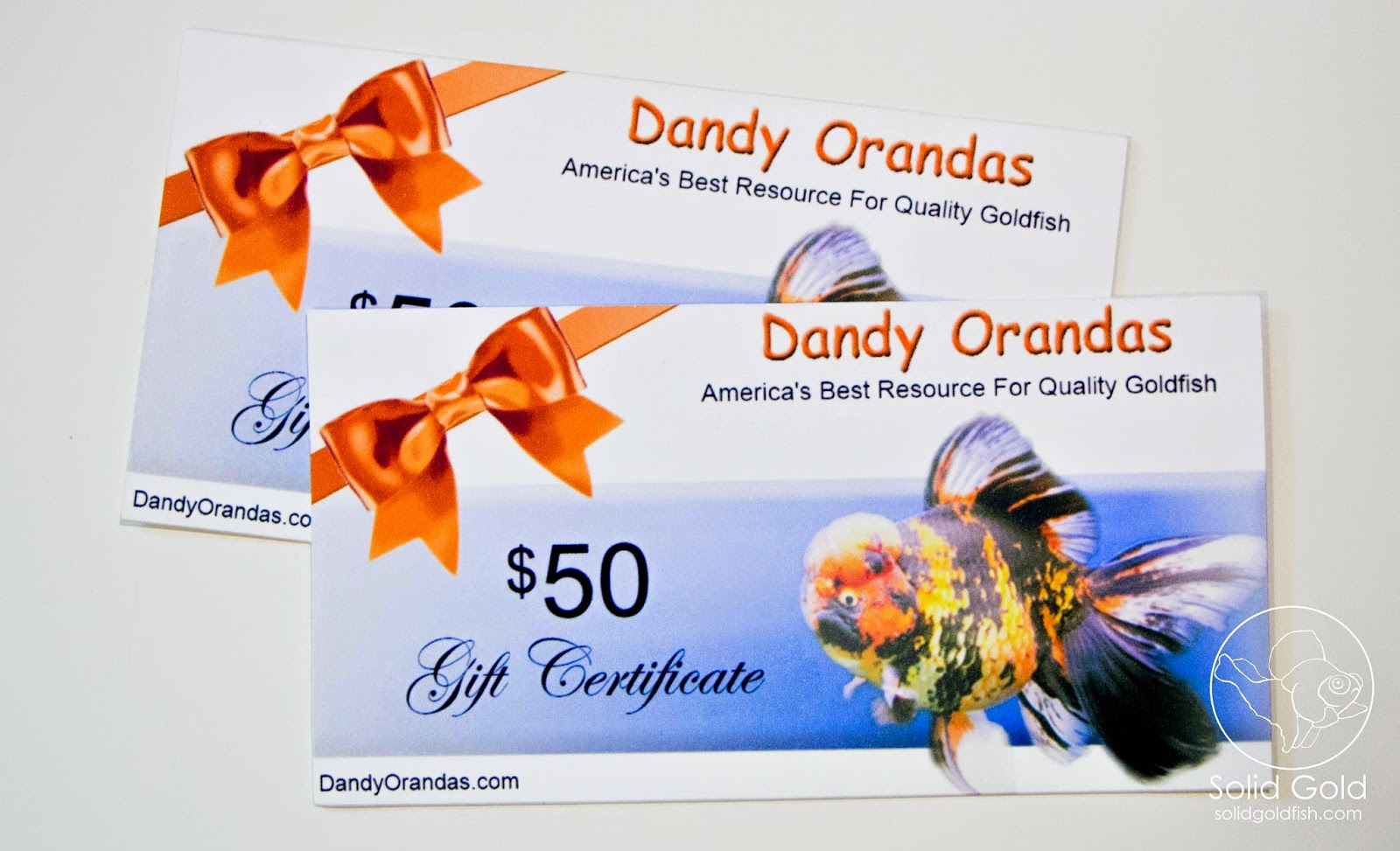 Dandy Orandas Giveaway Winners