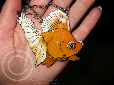 Custom Goldfish Necklace